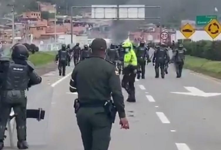 Protesta en Facatativá