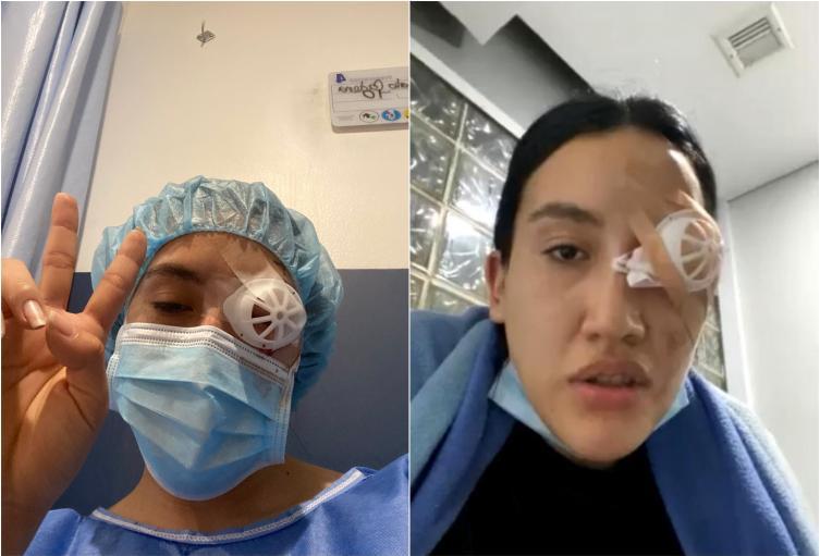 Leidy Natalia Cadena pierde el ojo en protestas en Bogotá