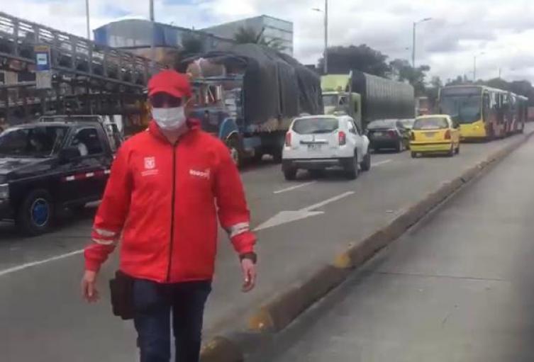 Protestas de comerciantes por medidas y cuarentena decretadas en Bogotá