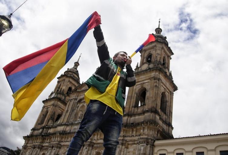 Bandera de Colombia al revés.