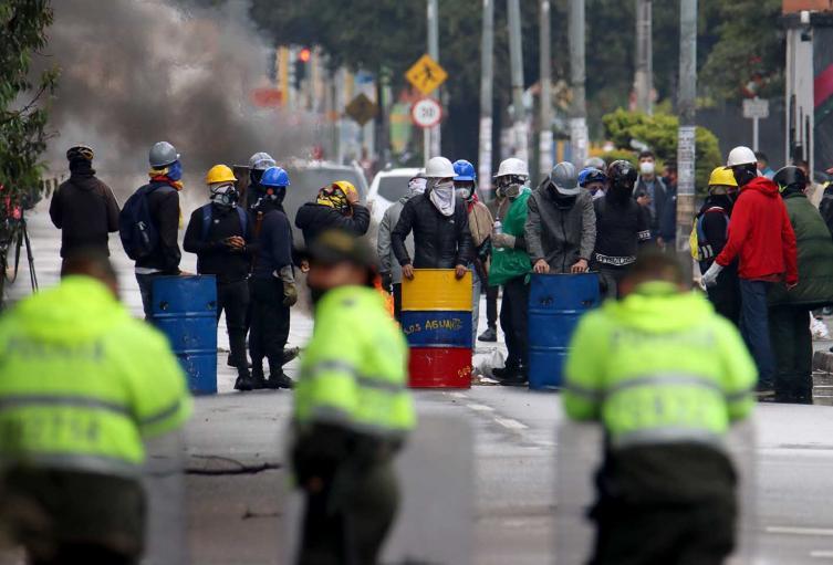 Protestas en Bogotá, en la Avenida El Dorado este 9 de junio