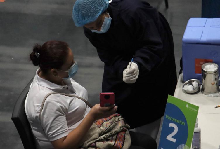 Vacunación anticovid en el Movistar Arena