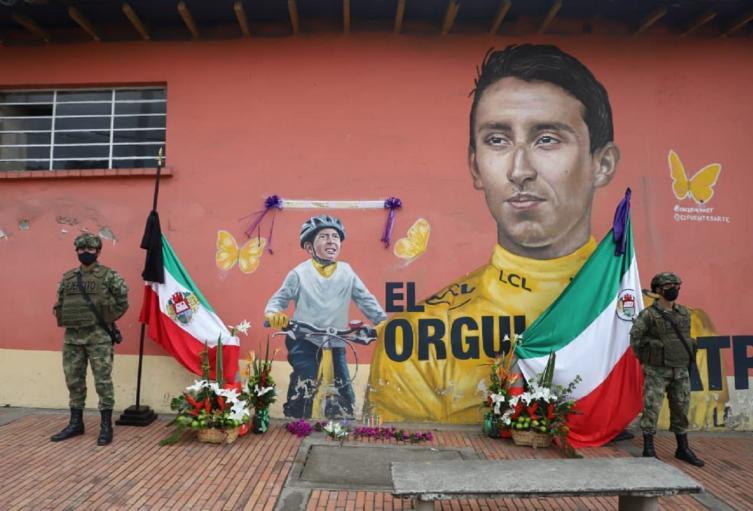 Mural de Egan Bernal y Julián Gómez