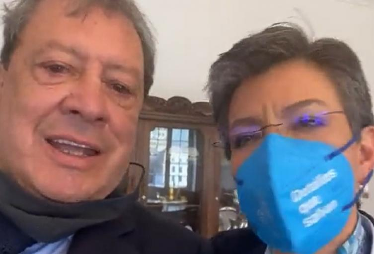 Mario Hernández y Claudia López