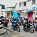 Motocicletas en las calles de Sincelejo