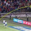 Hincha de Medellín lanza cuchillo a jugadores de Millonarios