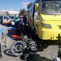 Accidente de bus y moto
