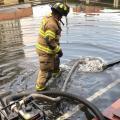 Inundación en colegio