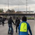 Protestas al frente de la Universidad Nacional