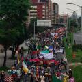 La minga indígena en Bogotá