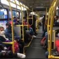Viaje en un articulado de Transmilenio, en Bogotá