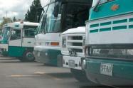 Paro de buses en comuna 13, Medellín por inseguridad.