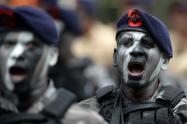 Desfile militar con motivo del 20 de julio.