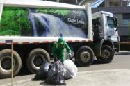 Recolección de basura en Bogotá