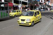 Taxi en Bogotá.