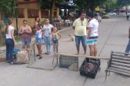 Protesta falta de Energía Barranquilla