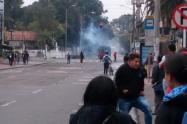 Protestas en la Universidad Pedagógica