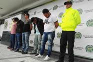 Estos fueron los sujetos capturados por la Policía Metropolitana de Bogotá