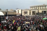 Manifestaciones estudiantiles en la Plaza de Bolívar