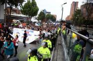 Marchas estudiantiles en Bogotá