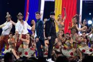 Silvestre Dangond y Nicky Jam en concierto