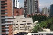Imposión del edificio Mónaco, en Medellín