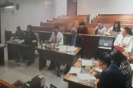 Audiencia en la que se juzga a los hemanos Uribe Noguera, por el caso Samboní