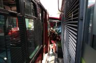 Accidente de Transmilenios en Pepe Sierra, Bogotá