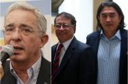 Los senadores Álvaro Uribe, Gustavo Petro y Gustavo Bolívar