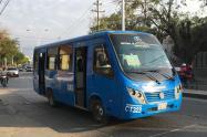 Bus del servicio urbano en Santa Marta