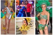 Famosas en el Carnaval de Barranquilla 2019.