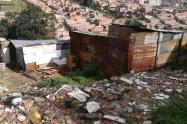 Barrio Divino Niño, afectado por deslizamientos