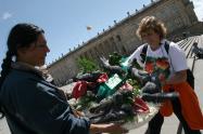 Ventas ambulantes en la Plaza de Bolívar