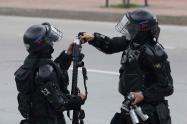 Protestas en Universidad Nacional Esmad