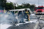 Incendio en la avenida Américas en Bogotá