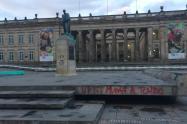 Plaza de Bolívar afectada tras protestas