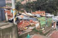 Viviendas afectadas por el invierno en Divino Niño (Ciudad Bolívar), en Bogotá