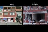 Antes y después de la explosión del barrio La Estrada