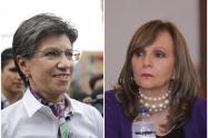 Claudia López y Ángela María Robledo