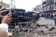 Explosión en Avenida Rojas