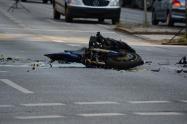 Motociclista accidentado. Imagen de referencia.