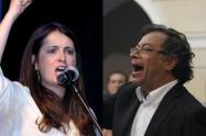 Paloma Valencia y Gustavo Petro, enfrentados.