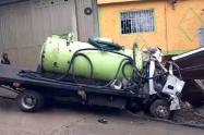 Accidente en San Cristóbal
