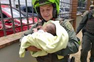 Bebé rescatada