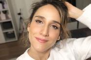 La actriz compartió una fotografía donde luce una sensual lencería negra.