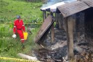 Incendio en Zetaquira dejó una víctima fatal