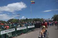 Población migrante en la frontera de Colombia y Venezuela