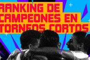 El ránking de los campeones en torneos cortos de la Liga Águila.