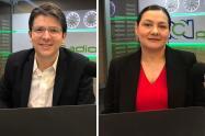 Miguel Uribe y Ángela Garzón, candidatos a la alcaldía de Bogotá