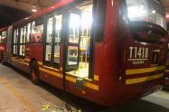 Daños a bus de Transmilenio